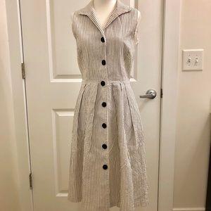 Sleeveless Lafayette 148 shirt dress